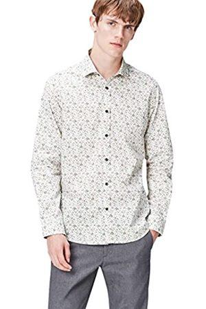 FIND Camisa Entallada con Estampado de Flores para Hombre