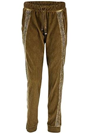 Freddy Pantalón Largo de Terciopelo con Franja de Lentejuelas - Antique Bronze Cool Dyed - Medium