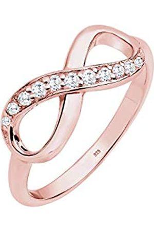 Elli Mujer-ring Infinity 925 Circonita corte brillante oro