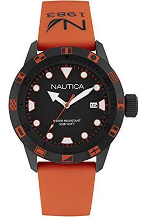 Nautica Reloj Analógico para Hombre de Cuarzo con Correa en Silicona NAI10077G