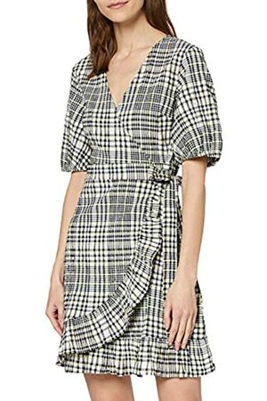 FIND Marca Amazon - MDR 40985C Casual Dresses, Black (Black Yellow Check)