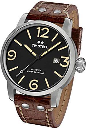 TW steel Reloj Analógico para Hombre de Cuarzo con Correa en Cuero MS2