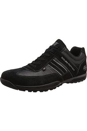 Dockers 36ht001, Zapatos de Cordones Oxford para Hombre, (Schwarz/Grau 120)