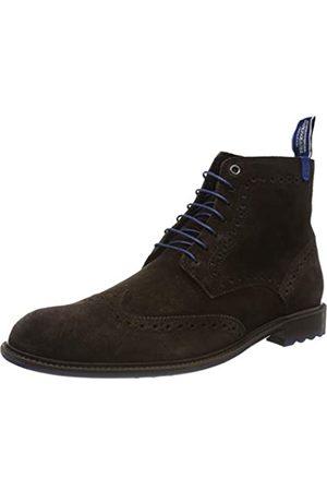 Floris van Bommel 10506/16, Zapatos de Cordones Brogue para Hombre, (Dark Brown Suede 16)
