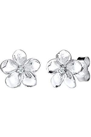 DIAMORE Señorías-studs frangipani flor 925 diamante (0.04 ct) Blanco corte brillante - 0309890815