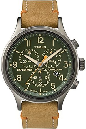 Timex Reloj Cronógrafo para Hombre de Cuarzo con Correa en Cuero TW4B04400