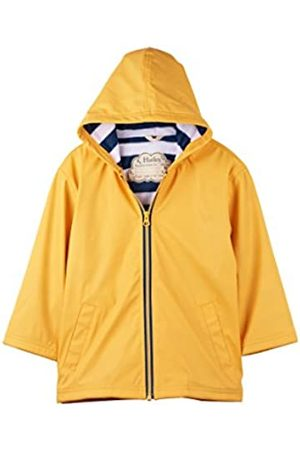 Hatley Zip Up Splash Jacket Impermeable, Yellow with Navy Stripe