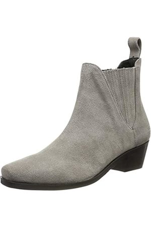 Melvin & Hamilton Kylie 1, Botas Chelsea para Mujer, (Grey Suede Pattini-Marmotta-Elastic Lining Nappa Insole Leather-HRS-Black)
