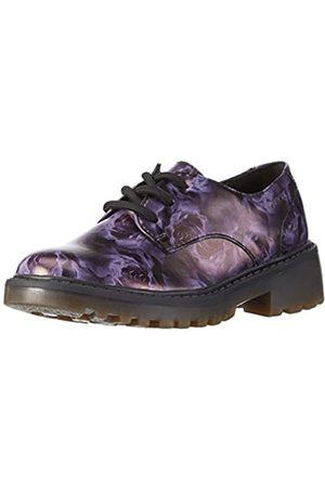 Geox J Casey Girl M, Zapatos de Cordones Derby para Niñas, (Black/LILACC9266)