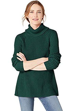 Goodthreads Cotton Half-Cardigan Stitch Turtleneck Sweater Sweaters