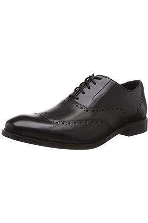 Clarks Edward Walk, Zapatos de Cordones Derby para Hombre, (Black Leather-)