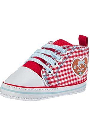 Playshoes Primeros Zapatos Patrón del corazón, Zapatillas Casual Unisex bebé, (Rot 8)