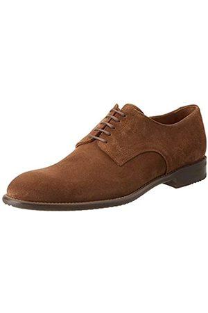 Lottusse L6870, Zapatos de Cordones Derby para Hombre, (Camoscio Marron Camoscio Marron)