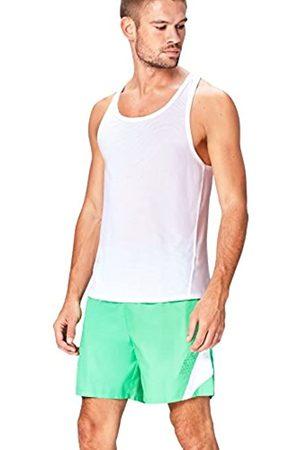 Activewear Mesh Camiseta Deportiva para Hombre, Weiß (White)