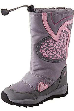Geox J Orizont B Girl ABX A, Botas de Nieve para Niñas, (Grey/Pink C0502)