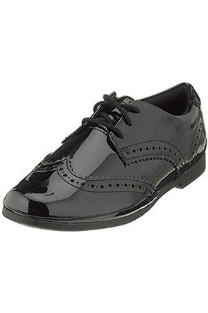 Clarks Scala Lace Y, Zapatos de Cordones Derby para Niñas, (Black Pat Black Pat)