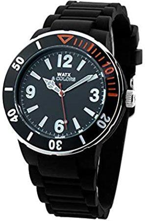 Watx Reloj Analógico para Hombres de Cuarzo con Correa en Caucho RWA1620-C1512