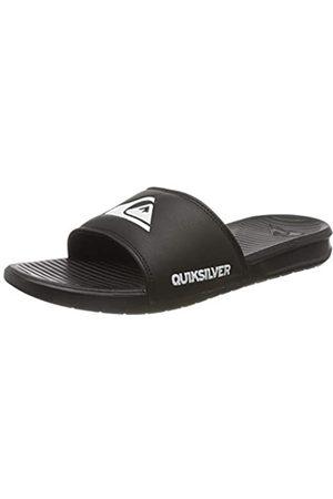Quiksilver Bright Coast Slide, Sandalias con Punta Abierta para Hombre, (Black/White/Black Xkwk)
