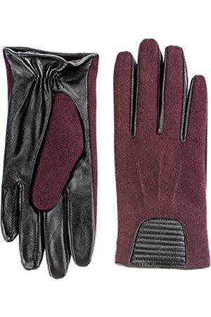 Berydale Guantes de cuero para mujer, con combinación de cuero y lana