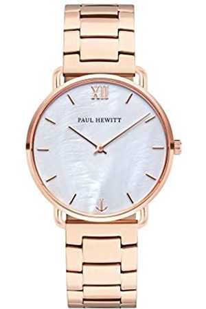 Paul Hewitt Reloj de muñeca para Mujer en Acero Inoxidable Miss Ocean Pearl - Reloj de Pulsera de Acero Inoxidable en Oro