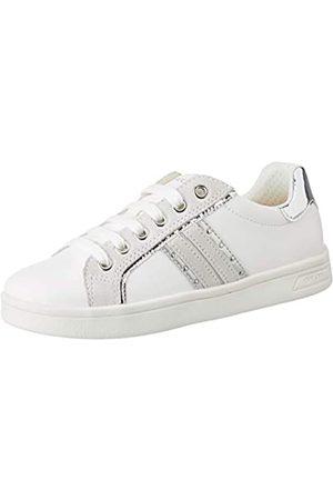 Geox J Djrock Girl G, Zapatillas para Niñas, (White/Silver C0007)