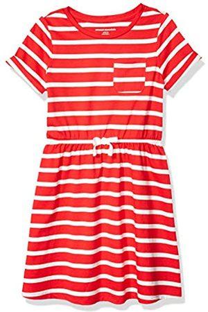 Amazon Girls' Short-Sleeve Elastic Waist T-Shirt Dress Playwear