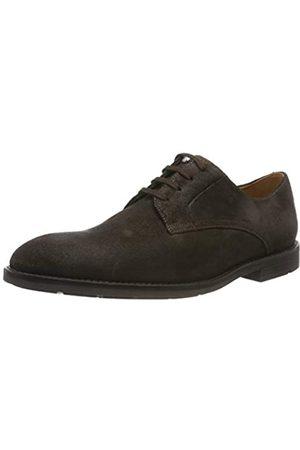 Clarks Ronnie Walk, Zapatos de Cordones Derby para Hombre, Dark Brown Nub