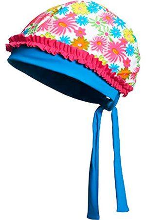 Playshoes Kopftuch Bademütze Blumenmeer mit UV-Schutz, Sombrero Niños, (pink)