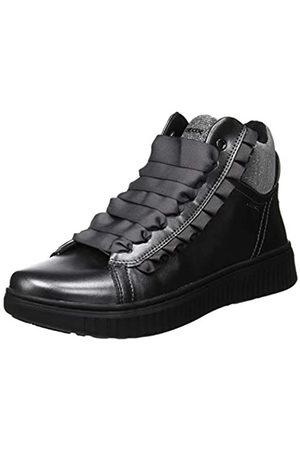 Geox J Discomix Girl A, Zapatillas Altas para Niñas, (Dk Grey C9002)