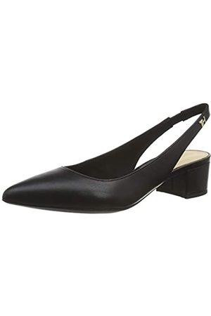 Tommy Hilfiger Feminine Leather Mid Heel Pump, Zapatos de Tacón para Mujer, (Black Bds)