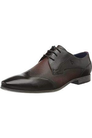 Bugatti 3114201b3535, Zapatos de Cordones Derby para Hombre, (Dark Grey/Dark Red 1131)
