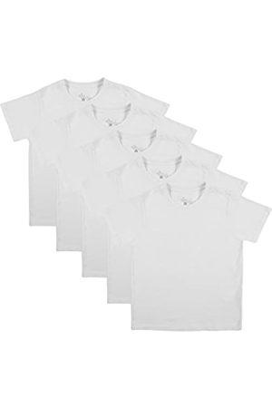 Ultrakidz Camiseta de manga corta con cuello redondo para niños, set de 5