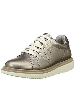 Geox J Thymar A, Zapatos de Cordones Derby para Niñas, (Dk Gold)
