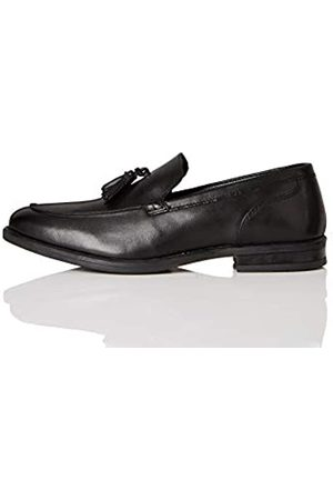 FIND Marca Amazon - Abe_HS01 Mocasines, (Smart Black Smart Black)