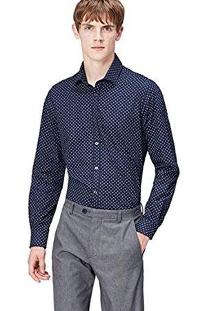 FIND Camisa Estampada para Hombre, (Navy)