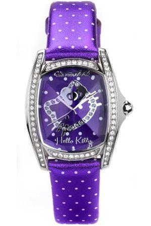 Hello Kitty Reloj Analógico para Mujer de Cuarzo con Correa en Piel DW0470