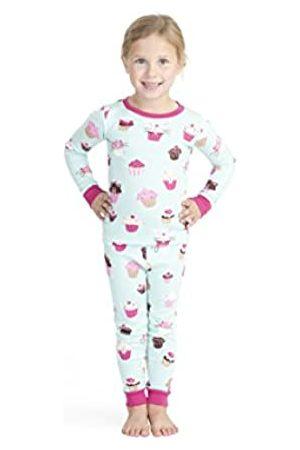 Hatley Organic Cotton Long Sleeve Printed Pyjama Sets Conjuntos de Pijama, ((Cute Cupcakes)