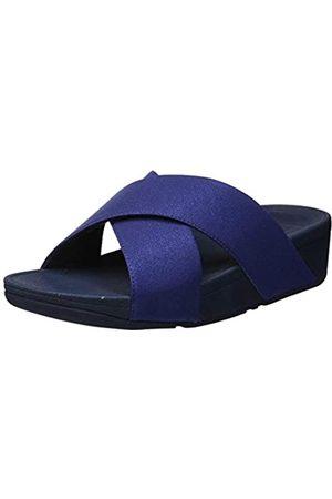 FitFlop Luli Shimmerlux Slides, Sandalias con Punta Abierta para Mujer, (Midnight Navy 399)