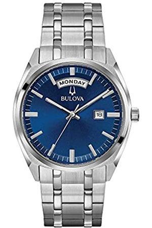 BULOVA Reloj Analógico para Hombre de Cuarzo con Correa en Acero Inoxidable 96C125
