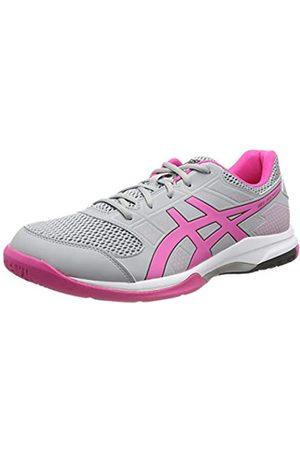 Asics Gel-Rocket 8, Zapatos de Voleibol para Mujer, (Mid Grey/Pink GLO 020)