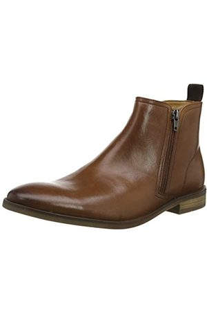 Clarks Stanford Zip, Botas Chelsea para Hombre, (Tan Leather Tan Leather)