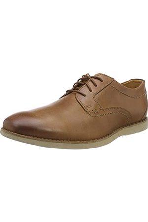 Clarks Raharto Plain, Zapatos de Cordones Derby para Hombre, (Dark Tan Leather)