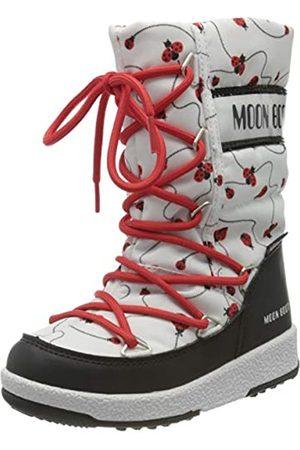 Moon-boot Jr Girl Quilted Ladybug WP, Botas de Nieve para Niños, (Bianco 001)