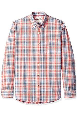 Goodthreads Marca Amazon - - Camisa de manga larga de corte estándar de cambray para hombre