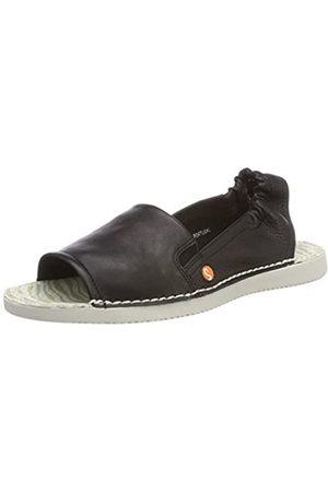 softinos Tee430sof, Sandalias con Punta Abierta para Mujer, (Black 008)