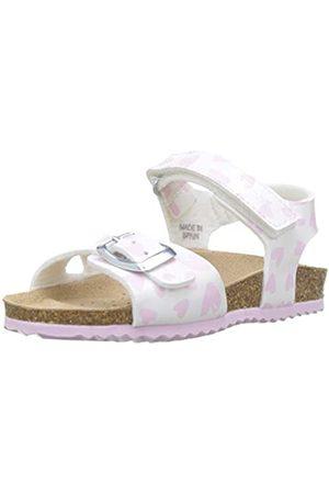 Geox B Sandal Chalki Girl a, Sandalias para Bebés, White/Pink C0406