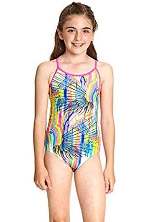 Zoggs Tropix Bella Crossback - Traje de baño de una Pieza de Tela ecológica para niña, niña, 506020034