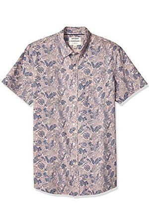 Goodthreads Marca Amazon – – Camisa estampada de manga corta de popelín y corte entallado para hombre