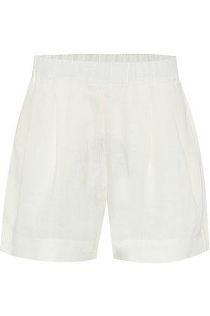 ASCENO Shorts anchos Zurich de lino