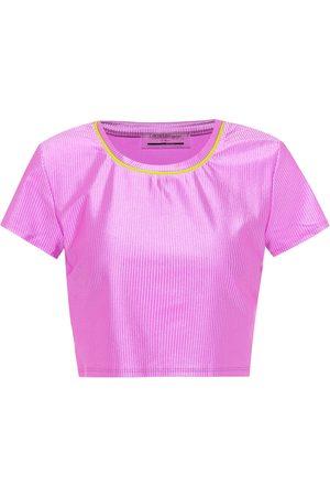 Lanston Camiseta de punto fino técnico